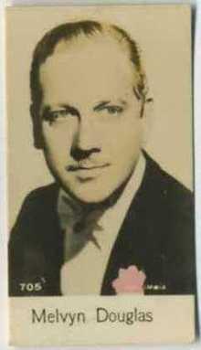 Melvyn Douglas 1930s De Beuakelaer Trading Card