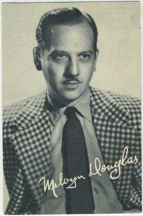 Melvyn Douglas 1930s Boys Cinema Postcard