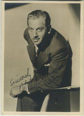 Melvyn Douglas 1930s 5x7 Fan Photo