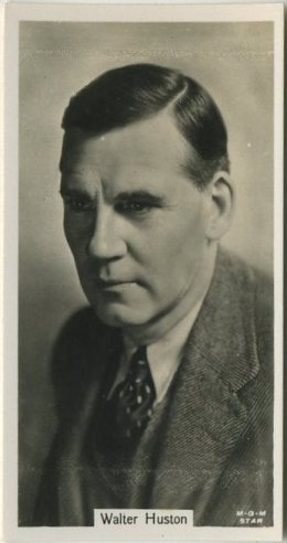 Walter Huston 1934 John Sinclair Tobacco Card
