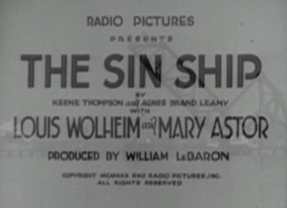 The Sin Ship opening credits