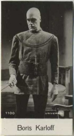 Boris Karloff 1940 De Beukelaer Trading Card 1100