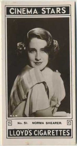 Norma Shearer 1935 Lloyd Cinema Stars Tobacco Card