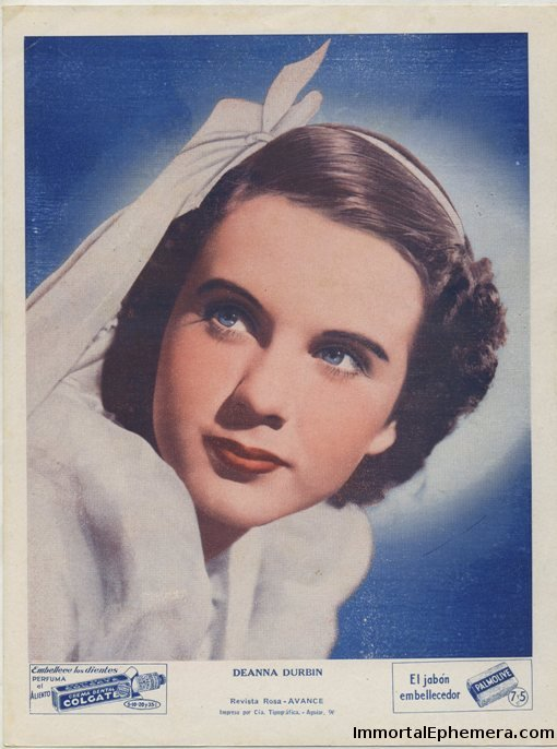 Deanna Durbin 1930s Colgate Palmolive Premium Photo from Cuba