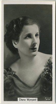 Diana Wynyard 1934 John Sinclair Film Stars Tobacco Card