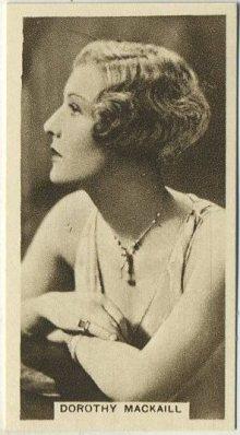 Dorothy Mackaill 1933 Abdulla Blank Back Tobacco Card