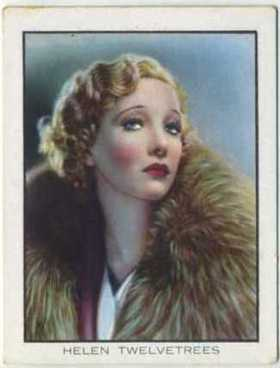 Helen Twelvetrees 1933 BAT World Famous Cinema Artistes Tobacco Card
