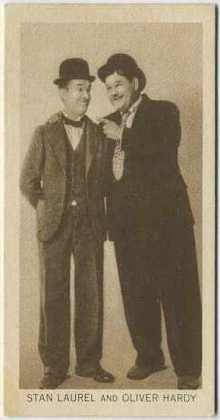Laurel and Hardy 1931 BAT Tobacco Card