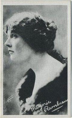 Marjorie Rambeau circa 1917-1920 Kromo Gravure Trading Card