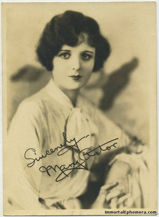 Mary Astor 1920s fan photo