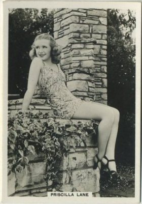 Priscilla Lane 1930s BAT Modern Beauties Medium Sized Card