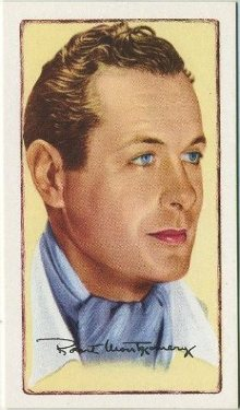 Robert Montgomery 1935 Gallaher Signed Portraits of Famous Stars Tobacco Card