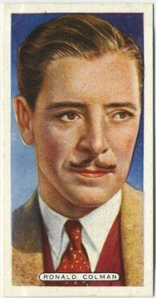 Ronald Colman 1935 Ardath Film Stage and Radio Stars Tobacco Card
