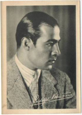 Rudolph Valentino 1920s 5x7 Fan Photo