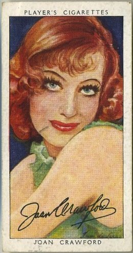 Joan Crawford 1938 Player's Film Stars Third Series Tobacco Card