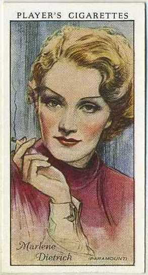 Marlene Dietrich 1934 Players Film Stars Series 1 Tobacco Card
