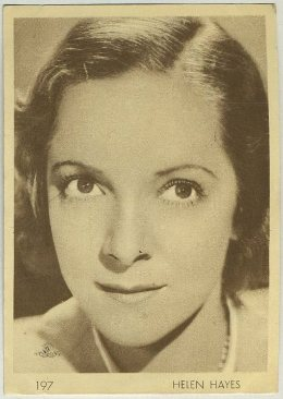Helen Hayes 1930s Aguila Trading Card