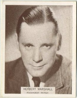 Herbert Marshall 1934 Wills Famous Film Stars Tobacco Card