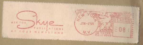 Jalert Sales Co with 1955 postmark