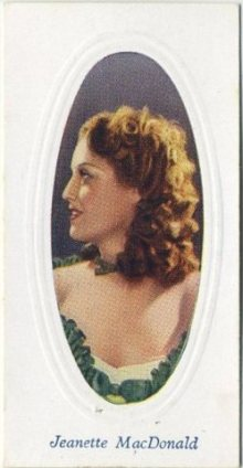 Jeanette MacDonald 1936 Godfrey Phillips Screen Stars Tobacco Card