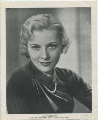 Joan Fontaine 1936 R95 Linen Textured Premium Photo