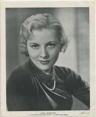 Joan Fontaine 1936 R95 Linen Textured Premium Photo