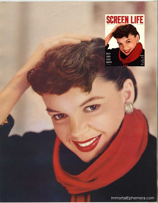 Judy Garland Premium with Accompanying Magazine Cover