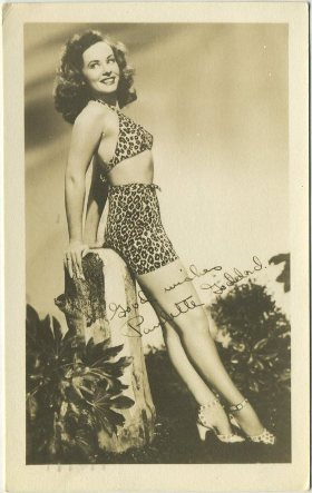 Paulette Goddard 3-1/2 X 5 Fan Photo