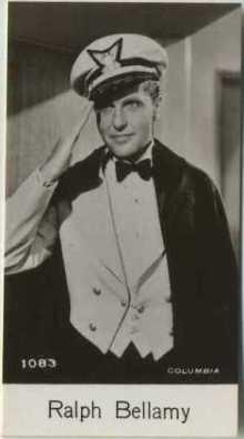 Ralph Bellamy 1940 De Beukelaer Trading Card