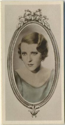 Ruth Chatterton 1934 Godfrey Phillips Stars of the Screen Tobacco Card