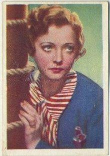 Sylvia Sidney 1936 Nestles Trading Card