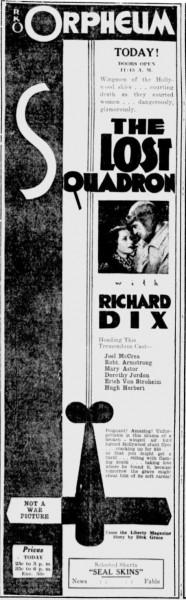 The Lost Squadron 1932 ad