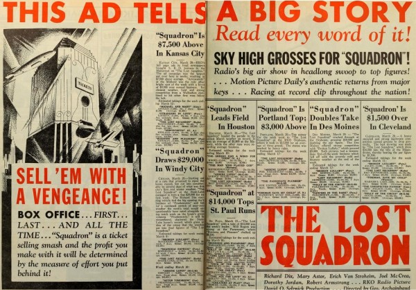 Ad for The Lost Squadron