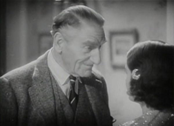 C Aubrey Smith and Barbara Stanwyck