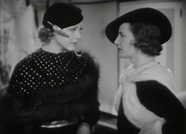 Claire Dodd and Barbara Stanwyck
