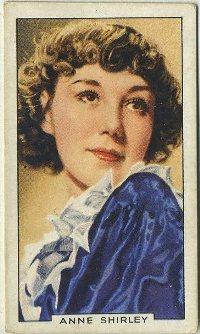 Anne Shirley 1935 Gallaher Tobacco Card