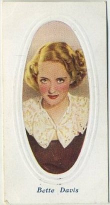 Bette Davis 1936 Godfrey Phillips Screen Stars Tobacco Card
