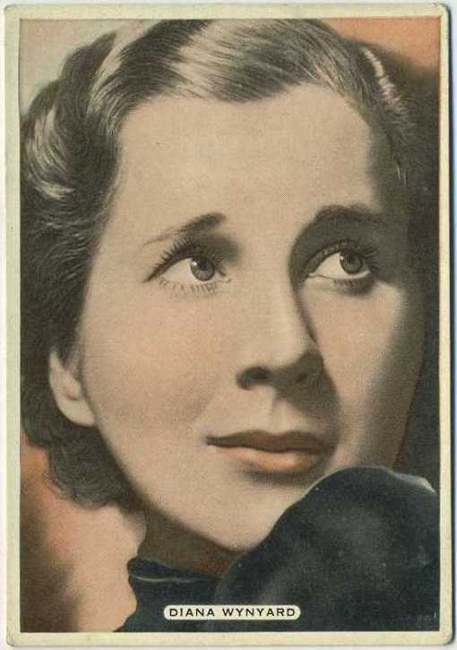 Diana Wynyard 1935 Ardath Film Stage and Radio Star Tobacco Card