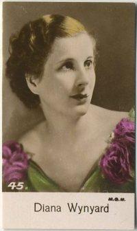 Diana Wynyard 1935 Bridgewater Trading Card