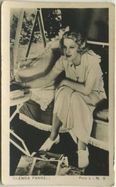 Glenda Farrell 1938 Polo L Tobacco Card from Chile