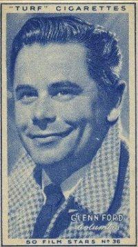 Glenn Ford 1947 Carreras Turf Tobacco Card