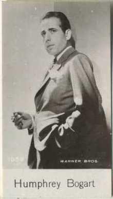 Humphrey Bogart 1940 De Beukelaer Trading Card