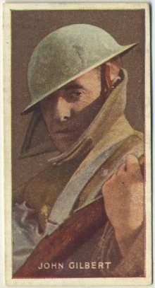 John Gilbert 1927 Amalgamated Press Trading Card