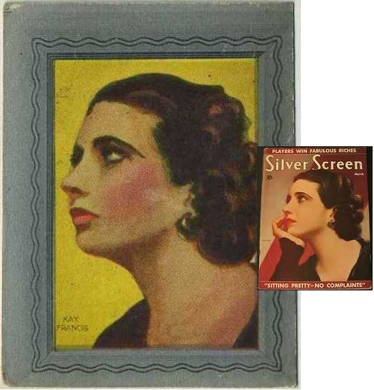 Kay Francis Trading Card and Silver Screen Magazine Issue