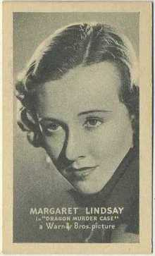 Margaret Lindsay 1934 Golden Grain Tobacco Card