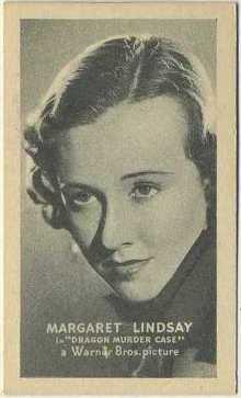 Margaret Lindsay 1934 Golden Grain Tobacco Card