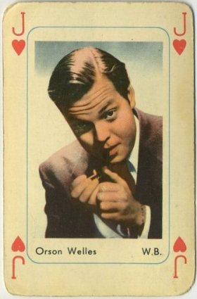 Orson Welles 1950s Maple Leaf Playing Card