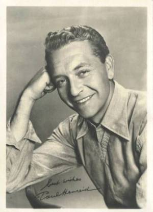 Paul Henreid 1940s era 5x7 Fan Photo