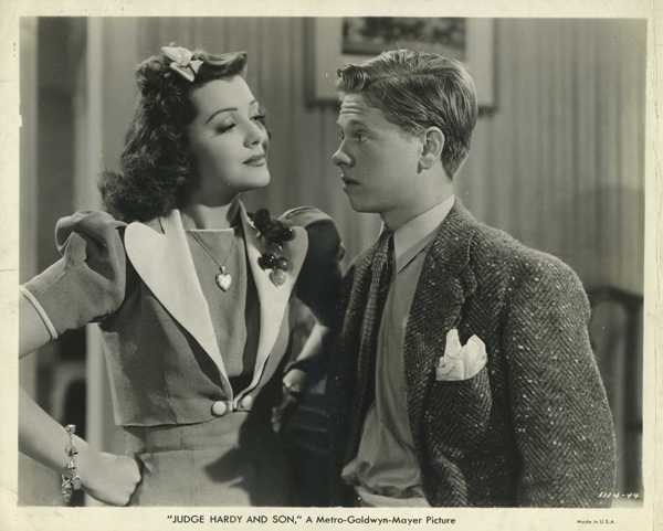 Ann Rutherford and Mickey Rooney