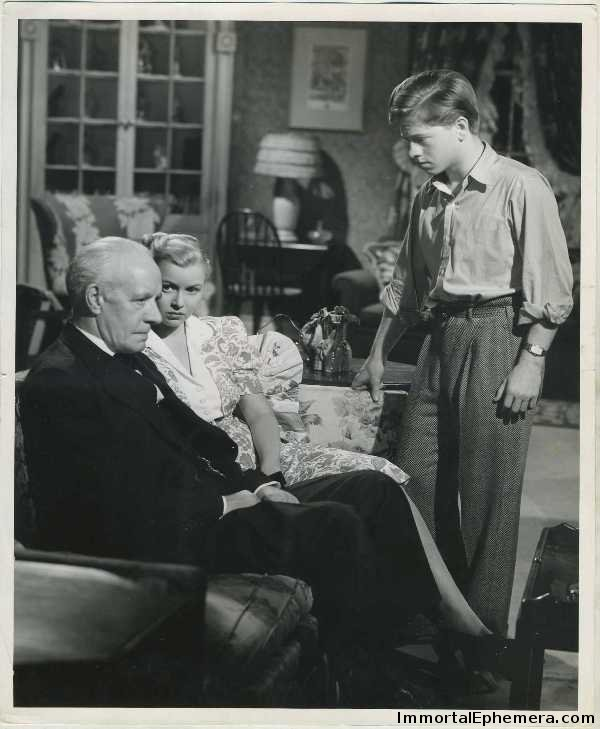 Lewis Stone, Cecilia Parker and Mickey Rooney